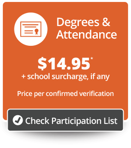 Degrees & Attendance Price/Participation Button