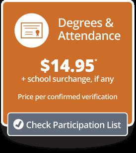 Degrees & Attendance Price/Participation Button