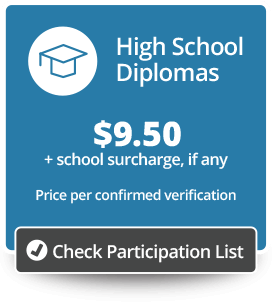 High School Diplomas Price/Participation Button