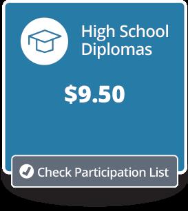 High School Diplomas Price/Participation Button